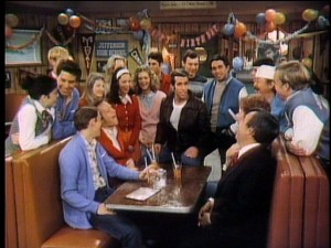 "Fonzie's birthday gives the gang reason to remember recent experiences in the unsightly bonus-designated ""Second Anniversary Show."""