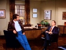 "Fonzie tries therapy from a shrink (Bill Idelson) in ""A Mind of Their Own"", in which he dons a calming blue T."