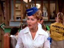 "Mrs. Cunningham (Marion Ross) becomes a waitress at Arnold's in ""Marion Rebels."" Funny, they never seemed to have servers there before!"