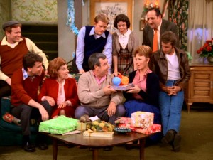 Dubbed a special feature, the Happy Days Third Anniversary special centers on Howard and Marion's 20th anniversary. Joined by guest Nancy Walker, the show's core cast watches as Howard hands Marion a special present.