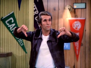 Fonzie gives this DVD's lack of genuine bonus features a rare two thumbs down rating.
