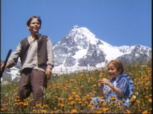 "Snow, flowers, and a little shepherd boy. That's the kind of nice Bavarian imagery Disney's ""Heidi"" goes for."