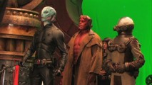 "The production section of ""Hellboy: In Service of the Demon"" sees our four protagonists confronting Nuada in a part-greenscreen golden army chamber."