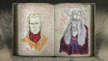 "The ""Director's Notebook"" presents del Toro's concept art of Prince Nuada and King Balor, and selecting them leads to a video clip with more information."
