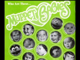 Baby pictures of Muppets and their performers pose an identification challenge in Henson Associates' premiere company yearbook, the 1985-86 Amphibian.
