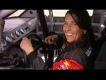 "NASCAR driver Deborah Renshaw teaches about the world of race cars in ""A Day at the Races."""