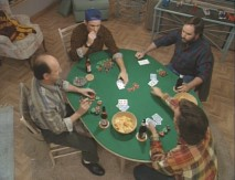 "Tim and the guys play poker in ""Luck Be a Taylor Tonight."""