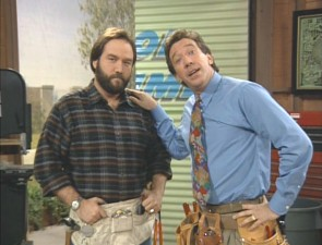 "Right-hand man Al Borland and Tim on ""Tool Time."""