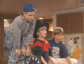 The Taylor kids. Left to right: Brad (Zachery Ty Bryan), Mark (Taran Noah Smith), and Randy (Jonathan Taylor Thomas).