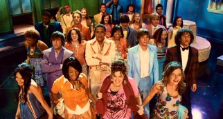 "The students of East High don bright, interesting fashions in their first faux prom number, ""A Night to Remember."""