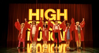 """High School Musical 3"" ends with the six designated leads posing before the HSM title logo for iconic, nostalgic purposes."