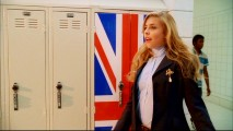 Sharpay's personal assistant Tiara Gold (Jemma McKenzie-Brown) seems plenty proud of her British nationality in this deleted scene where she claims a double-wide locker.