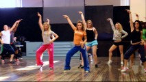 "The girls of HSM3 rehearse their dance moves in the Prom featurette ""Night of Nights."""