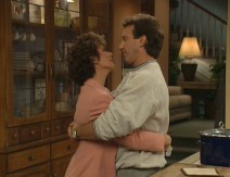 "Tim and Jill's marriage was one of the tentpoles of ""Home Improvement."" Here, they share an embrace in the Taylors' kitchen area."