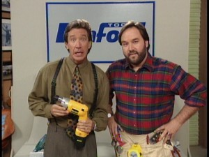 "Tim Allen plays the wise-cracking Tim ""The Toolman"" Taylor, while Richard Karn portrays his loyal assistant Al Borland."