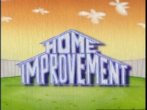 "The ""Home Improvement"" title logo, as seen in the new opening credits sequence for Season 4."
