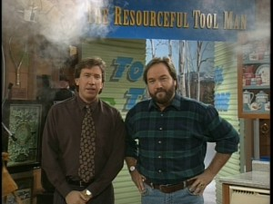 """Tool Time"" goes up in smoke in the introduction of new segment 'The Resourceful Tool Man.'"
