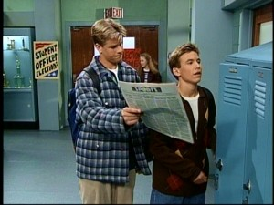 "We get to see the halls of Brad and Randy's high school in ""The Karate Kid Returns."""