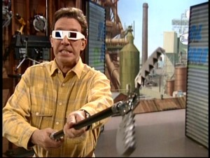 "Tim's the only one treated to 3-D glasses, making ""The Feminine Mistake"" a lot less enjoyable an episode."