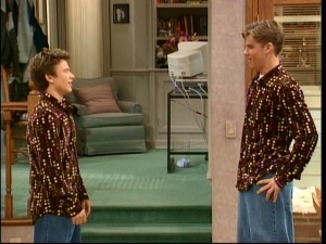 "Siblings Randy (Jonathan Taylor Thomas) and Brad (Zachery Ty Bryan) are upset to find themselves owning and wearing the same ""stylish"" shirt."