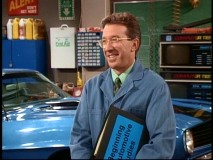 "Young people make Tim smile, as he teaches an auto class in ""The Old College Try."""