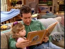 Tim enjoys reading a Winnie the Pooh book to his young niece Gracie (Kristen Hooper).