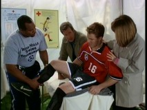 "Brad's injured knee is the focus of as many Season 8 episodes as departed younger brother Randy. In ""Trouble-A-Bruin"", the critical joint gets examined in the midst of a scout-attended soccer game."
