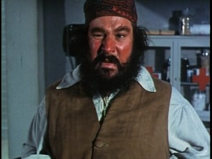 "Peter Ustinov gives his best impression of Gudger, Hank Jones's character, in ""Blackbeard's Ghost."""
