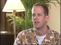 English director Pete Docter gives an interview.