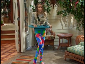 When she's not performing or busy being normal, Hannah Montana (Miley Cyrus) doubles as eccentric furniture.