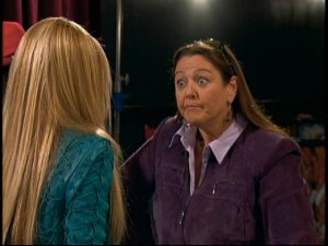 "Camryn Manheim makes a welcome appearance on ""Hannah Montana"" as manager to Hannah's pop star rival, Mikayla."