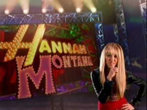 "Shh! ""Hannah Montana"" is about to start."