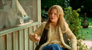 Marcia Gay Harden dons a bad wig and a ridiculous accent as Clifford's spited wife Edith Irving.
