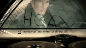 Richard Gere's car window writings kindly provide the second word of the movie's title in the animated main menu.