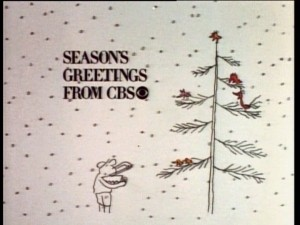 This vintage holiday CBS promo is one of two alternately shown to transition from one featured sitcom to the next.