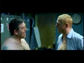 Nick Frost and Simon Pegg can't help cracking up in the Outtakes reel.
