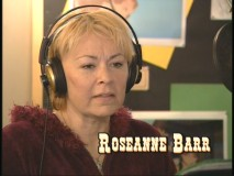 "Roseanne Barr records the voice of Maggie in ""Trailblazers."""