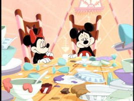 Minnie and Mickey are Gretel and Hansel.