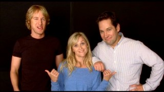 The blooper reel concludes with footage of an apparently unused premise-establishing Owen Wilson, Reese Witherspoon, and Paul Rudd  photo shoot.