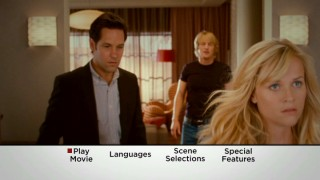 Lisa (Reese Witherspoon) walks out on both George (Paul Rudd) and Matty (Owen Wilson) in this shot from the DVD's main menu montage.