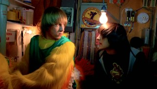 Pete (Jason Dolley) and Cleatus (Mitchel Musso) are both in the closet and carrying a secret, but in the world of Disney Channel Original Movies that just means one is hiding the fact that he's a chicken mascot.