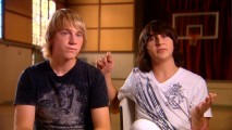 "Hatching Pete heartthrobs Jason Dolley and Mitchel Musso discuss their experiences in ""Unmasking the Mascot."""
