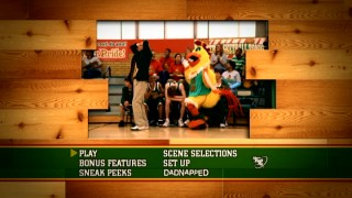 The Brewster Chicken imitates Coach Mackey behind his back on the animated Hatching Pete main menu montage.