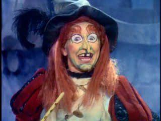 There is nothing subtle (nor should there be) about Billie Hayes' Oz-inspired performance as Wilhelmina W. Witchiepoo.