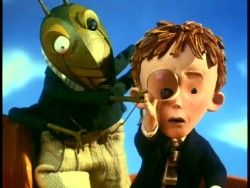 "After ""Nightmare"", Disney enlisted Henry Selick to direct an adaptation of Roald Dahl's ""James and the Giant Peach."" Tim Burton produced the mostly stop-motion 1996 feature, whose pictured trailer appeared on the old Nightmare Special Edition DVD."