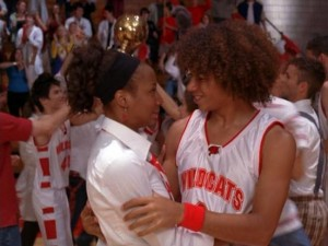 Forget Troy and Gabriella, I want to see a relationship grow between Chad (Corbin Bleu) and Taylor (Monique Coleman)!  We'll call them Chaylor!