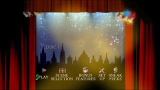 The Main Menu for Disc 1, where you'll often see mug shots of the cast in the spotlights.