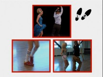 One of four angle options in the learn-to-dance featurette, this shows all three angles that can be viewed in fullscreen mode.