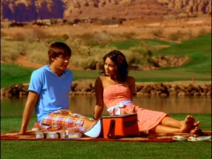 Troy and Gabriella share 30 seconds of quiet time (about half of the serenity this sequel has to offer) before Sharpay spoils it.