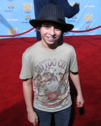 "Moises Arias, 13, joined the core cast of the Disney Channel's top-rated comedy series ""Hannah Montana"" in its second season."